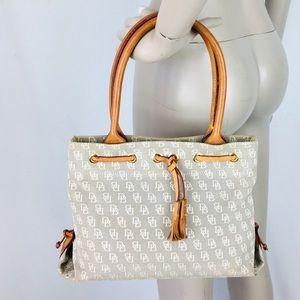 Vintage Dooney & Bourke Gray Signature Handbag